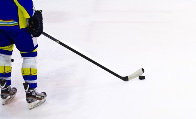Lone Hockey Player